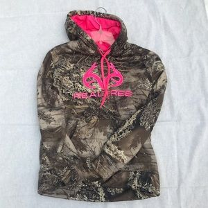 Realtree Camo and pink hoodie